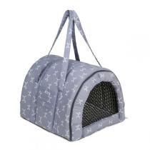 Bolsa de Transporte Fechado Fábrica Pet Munique Cinza -