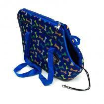 Bolsa de Transporte Ossinho Azul Tamanho P - Gaby modas