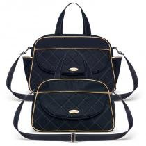 Bolsa Maternidade kit 2 peças Selena Azul Marinho - Classic for Bags - Classic for baby bags