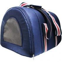 Bolsa para passeio - Cães e Gatos - Azul. Tamanho M - Camanimal