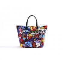 Bolsa Romero Britto Design - Tecido - 37cm x 51cm x 18cm - Trevisan Concept -