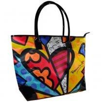 Bolsa Romero Britto Tote III - Tecido - 32cm x 46cm x 18cm - Trevisan Concept -