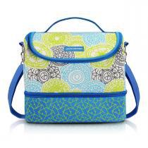 Bolsa térmica com 2 compartimentos e alça ajustavel jacki design azul -