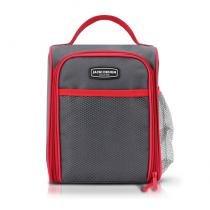 Bolsa térmica necessarie marmita academia fitness com alça zíper e bolso grande lisa jacki design ve -