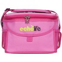 Bolsa Térmica Rosa 5 litros com Alça Ajustável EchoLife - Echolife