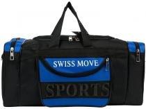 Bolsa Unissex de Mão Swiss Move Sport Go  - Preta e Azul