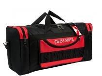 Bolsa Unissex de Mão Swiss Move Sport Go - Preta e vermelha