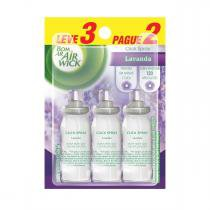 Bom Ar Air Wick Click Spray Lavanda Refil Leve 3 Pague 2 -