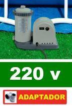 Bomba Filtrante Piscina Intex 5678 Lh 220v + Par Adaptador B -