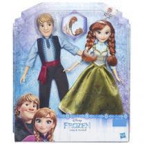 Boneca Anna e Boneco Kristoff Frozen - Hasbro