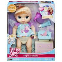 Boneca Baby Alive Fraldinha Mágica Loira - Hasbro B6051 - Hasbro