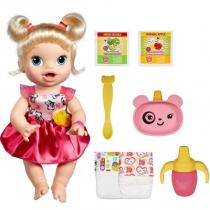 Boneca Baby Alive Hora de Comer Loira A7022 - Hasbro -