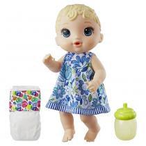 Boneca Baby Alive - Hora do Xixi - Loira - E0385 - Hasbro -
