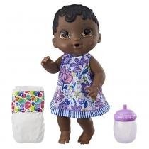 Boneca Baby Alive Hora do Xixi Negra E0308 Hasbro -