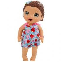 Boneca Baby Alive Lanchinhos Divertidos Hasbro - Morena
