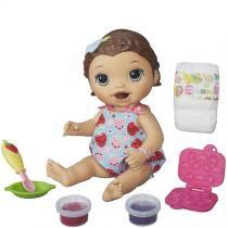 Boneca Baby Alive Lanchinhos Divertidos Morena B5015 Hasbro - Hasbro