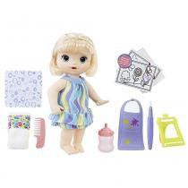 Boneca Baby Alive Pequena Artista Loira C0960 Hasbro -