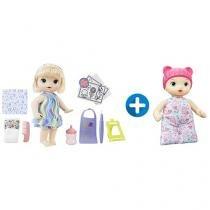 Boneca Baby Alive Pequena Artista Loira - com Acessórios + Boneca Baby Alive Naninha Hasbro