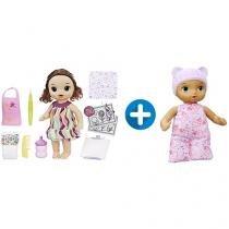 Boneca Baby Alive Pequena Artista Morena - com Acessórios + Boneca Baby Alive Naninha Hasbro