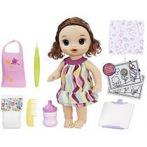 Boneca Baby Alive Pequena Artista Morena - com Acessórios Hasbro