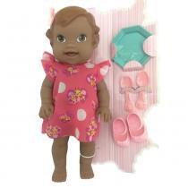 Boneca Baby Collection Papinha Negra - Super Toys -