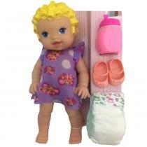 Boneca Baby Faz Xixi Com Acessórios - Super Toys - Super Toys