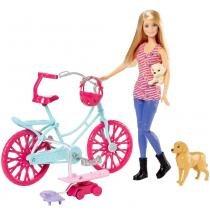 Boneca Barbie - Bicicleta com Pets - Mattel - Mattel