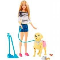 Boneca Barbie Família Passeio com o Cachorrinho Mattel - Mattel