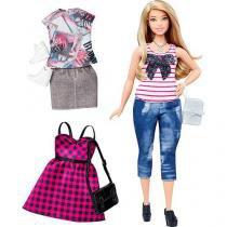 Boneca barbie fashionistas com acessorio mattel dtd96/dtf00 - Mattel