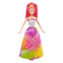 Boneca Barbie Princesa Luzes Arco-Íris - Mattel -