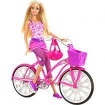 Boneca Barbie Real - Bicicleta com Boneca - Mattel - Mattel