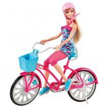 Boneca Barbie Real com Bicicleta - Mattel - Mattel