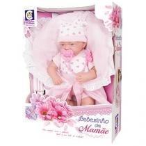 Boneca Bebezinho da Mamãe com Macacão - com Acessórios Cotiplás