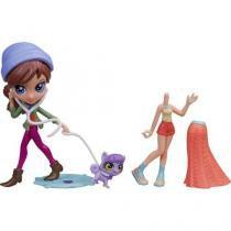 Boneca Blythe Super Estilosa Calça Roxa Littlelest - Pet Shop com Acessórios Hasbro