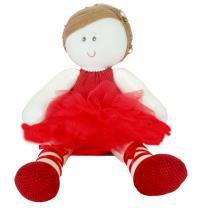 Boneca de Pano Bailarina G Vermelha Casa da Boneca -