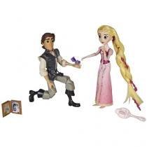 Boneca Disney Enrolados Princesa Rapunzel e Eugene - com Acessórios Hasbro 2 Unidades