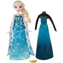 Boneca Disney Frozen Elsa Vestido Real - Hasbro
