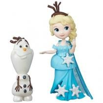 Boneca Disney Frozen Little Kingdom Elsa e Olaf - Hasbro