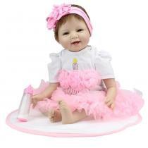 Boneca Laura Baby Enchanted Smile - Bebe Reborn - Laura doll