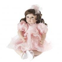 Boneca Laura Doll Pink Rose - Bebe Reborn - 1502 -