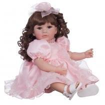 Boneca Laura Doll Pink Rose - Bebe Reborn - 1502 - Laura Doll