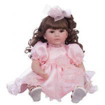 Boneca Laura Doll Pink Rose - Bebe Reborn - 1502 - Shiny toys