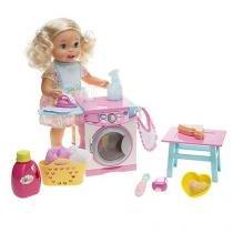 Boneca Little Mommy Hora de Comer e Lavar - FLC04 com Acessórios Mattel
