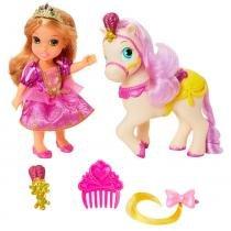 Boneca Minha Pequena Princesa com Pet e Acessórios - Princesas Disney - Rapunzel - Mimo - Mimo