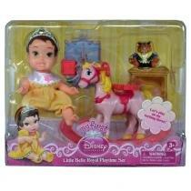 Boneca Minha Primeira Princesa Disney - Bela - Com Cavalo e Balanço - Mimo - Mimo