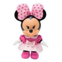 Boneca Minnie Mouse Docinho Disney Rosa Multibrink -