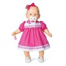 9e010a6348 Boneca Nenezinho branco vestido rosa 44 cm - Estrela -