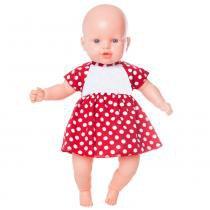 Boneca Nina - Vestido Vermelho com Poás  Estrela - Estrela