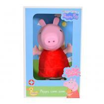 Boneca Peppa Pig Cabeça de Vinil com Som - Estrela -