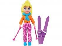 Boneca Polly Pocket Esquiadora - com Acessórios Mattel